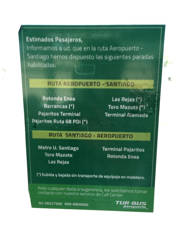 Airport bus stop list